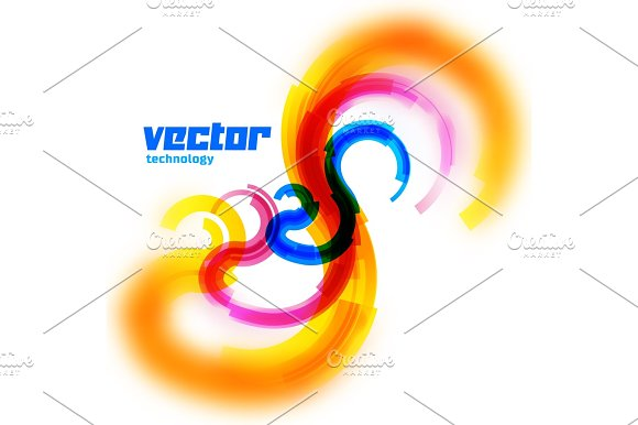 Vector spiral card with blurred edge