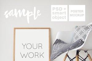 Wood Frame Mockup + PSD