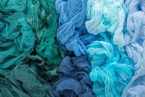 Colorful gauze fabric background
