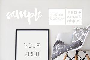 Black Frame Mockup + PSD
