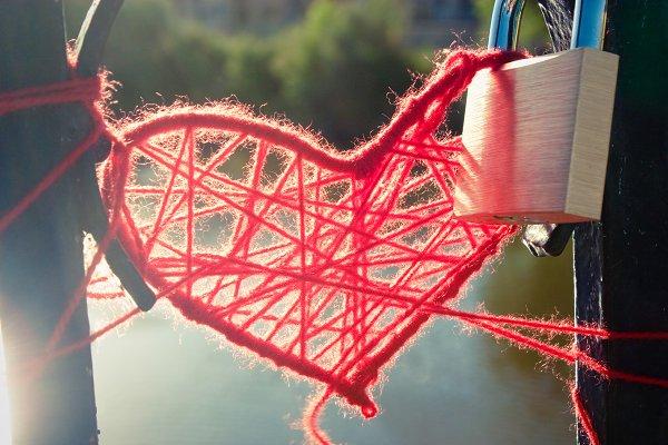 Heart of wool and padlock