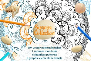 Summer collection mandala brushes