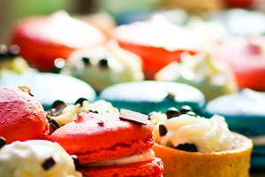 Pastries/ Desserts/Macaroons
