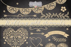 Wedding gold elements