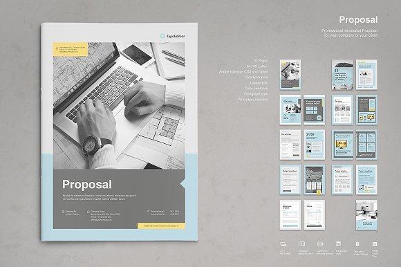 professional proposal brochure templates creative market