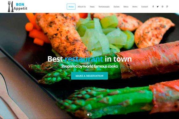 Bon Appetit – Responsive Restaurant