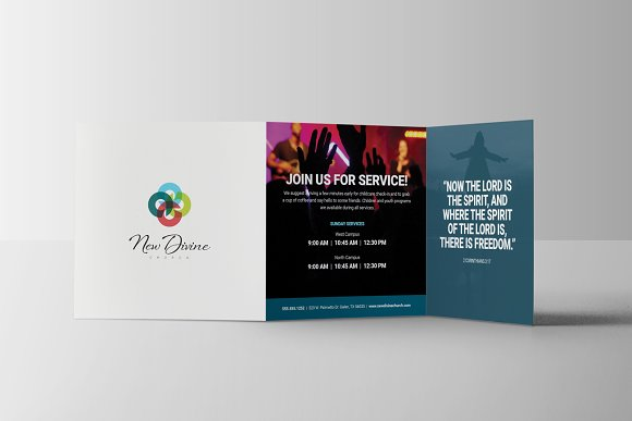 Modern Church Brochure Brochure Templates Creative Market - Church brochure templates
