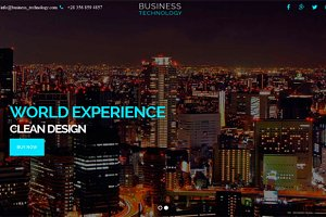 Business Technology – One Page HTML