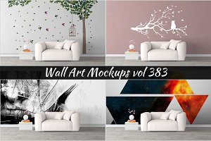 Wall Mockup - Sticker Mockup Vol 383