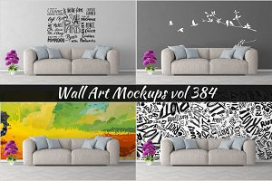 Wall Mockup - Sticker Mockup Vol 384
