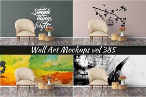 Wall Mockup - Sticker Mockup Vol 385