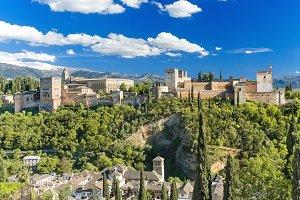 Alhambra palace, Granada, Spain.