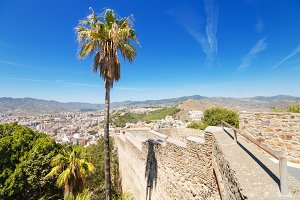 Gibralfaro Castle. Malaga, Spain.
