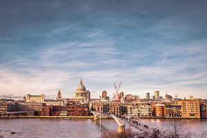 River Thames and London skyline
