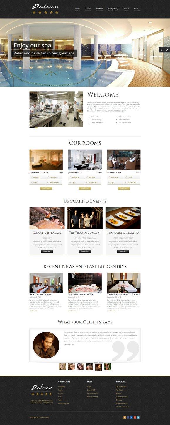 Palace - WordPress Hotel Theme