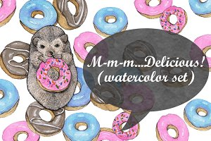 M-m-m...Delicious! (watercolor)