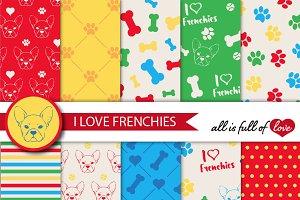 French Bulldog Tiling Patterns