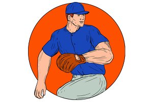 Baseball Pitcher Ready To Throw
