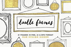 Hand Drawn Frames Clip Art
