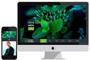 Green Planet – Social Bootstrap HTML