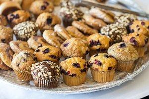 Fresh dessert muffins