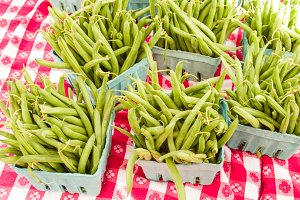 Baskets of green beans