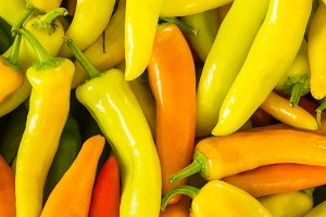 Fresh hot peppers