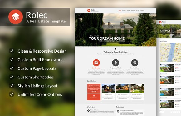Rolec Real estate WordPress Theme