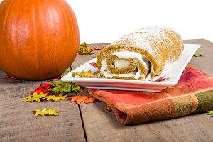 Pumpkin roll dessert