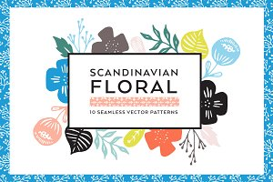 Scandinavian Floral Pattern Bundle