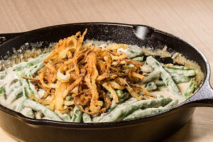 Fried onions in skillet