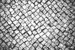 Cobbles, black and white