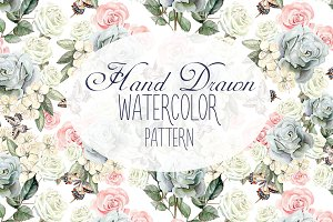 17 Hand Drawn Watercolor Pattern