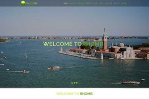 Rhomb – One Page Responsive Template