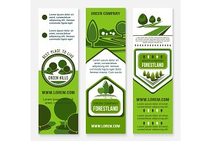 Eco green business banner template with tree