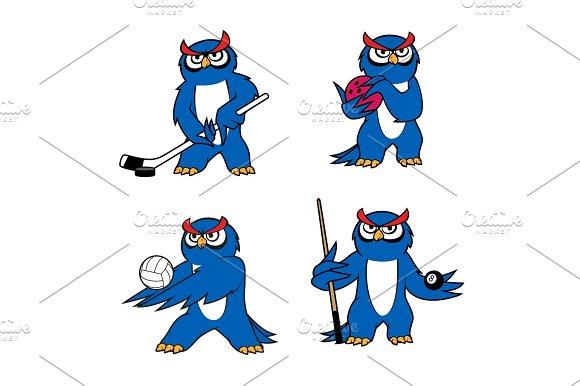 Owl Bird Mascot For Sport Club Or Team Design