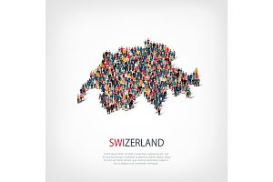 people map country Swizerland vector