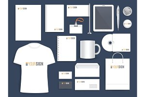 Corporate identity template for business company