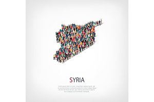 people map country Syria vector