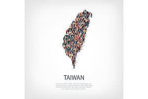 people map country Taiwan vector