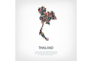 people map country Thailand vector