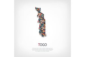 people map country Togo vector