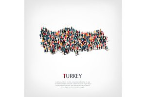 people map country Turkey vector