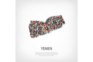 people map country Yemen vector