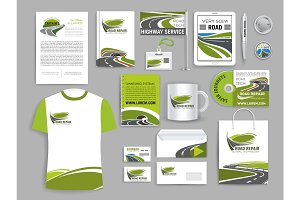 Corporate identity template for road build company