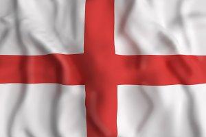 England flag waving