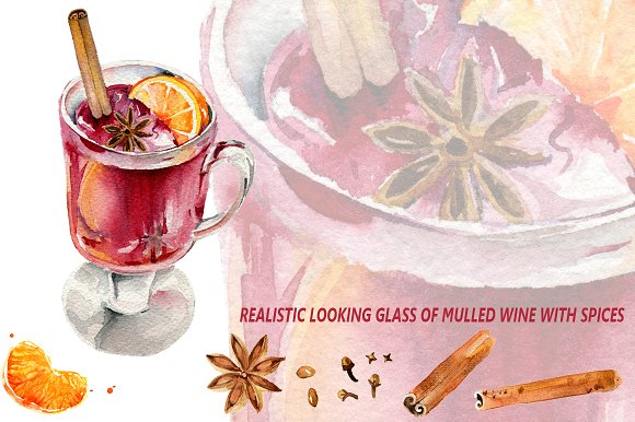 Hot Red Mulled Wine With Spices