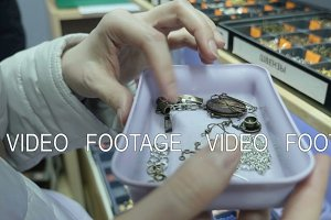 Young girl look at accessories for jewelry
