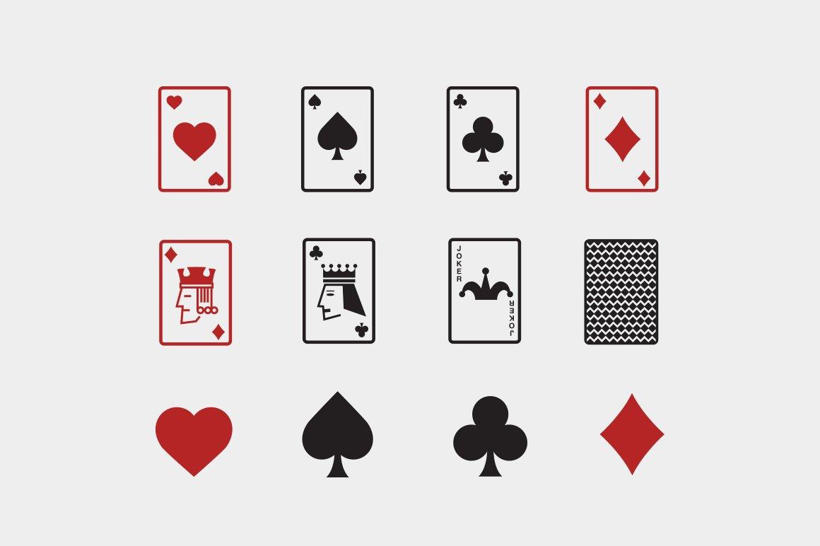 12 playing card icons icons creative market biocorpaavc