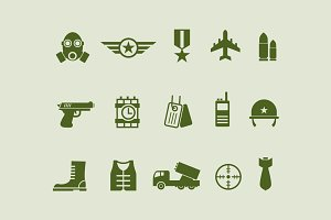15 Army and Military Icons